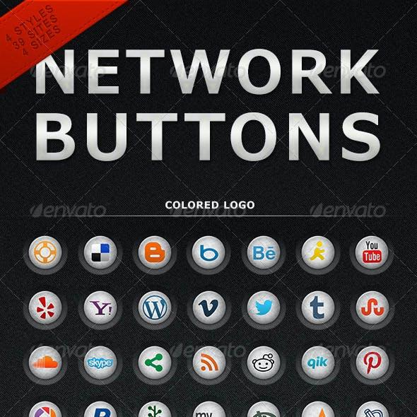 Grunge Network Buttons