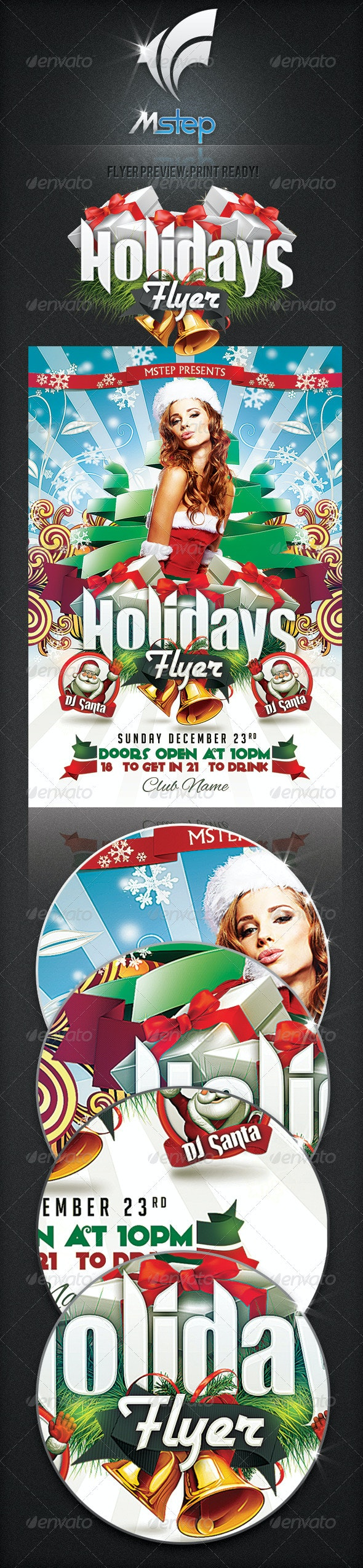 Holiday Flyer - Clubs & Parties Events