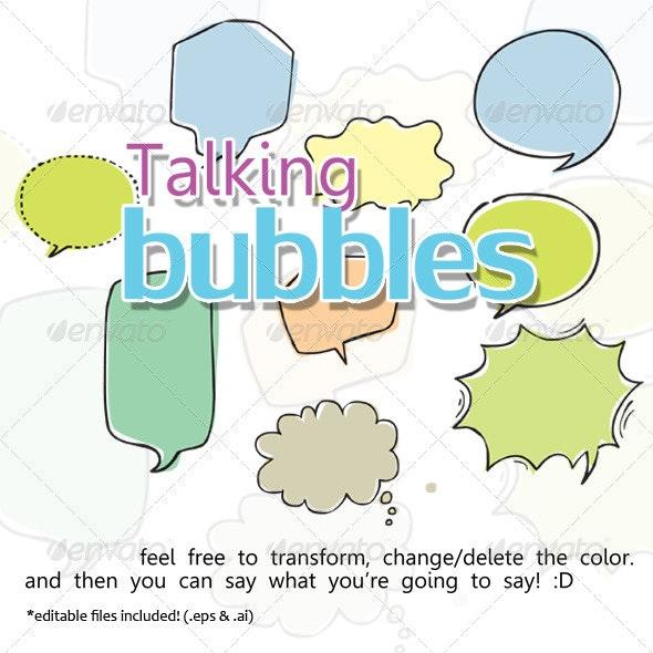Talking Bubbles - Decorative Symbols Decorative