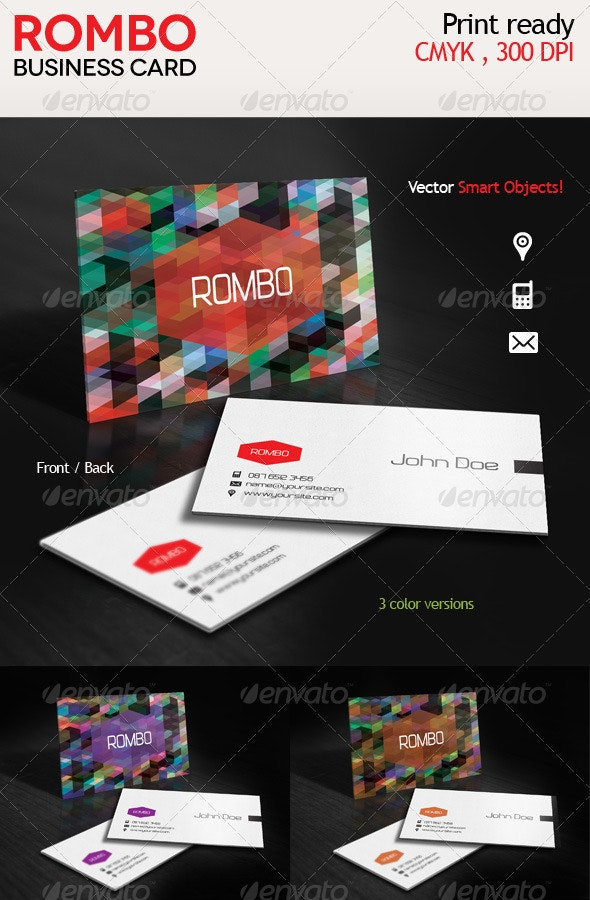 Rombo Creative Business Card - Creative Business Cards