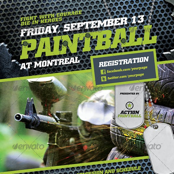 PaintBall Logo-Poster-Facebook Template