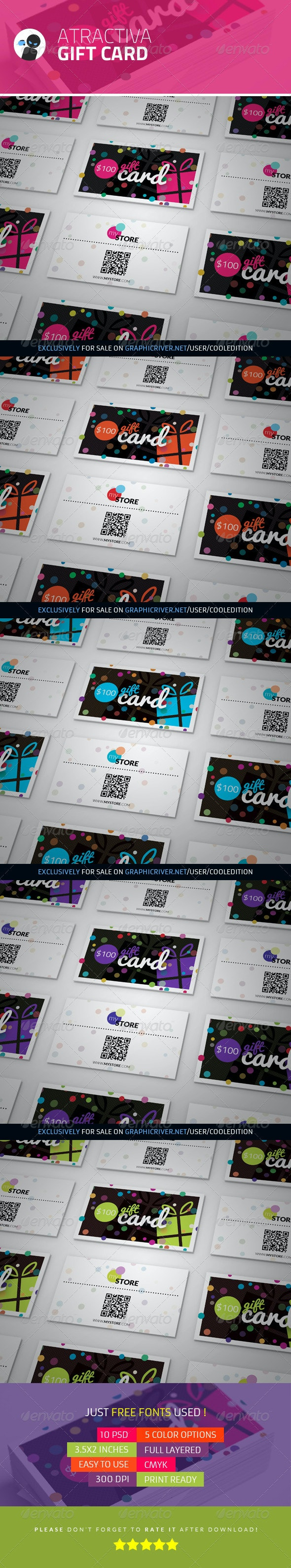 Atractiva - Gift Card - Industry Specific Business Cards
