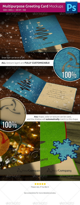 Multipurpose Greeting Card Mockups - Miscellaneous Print
