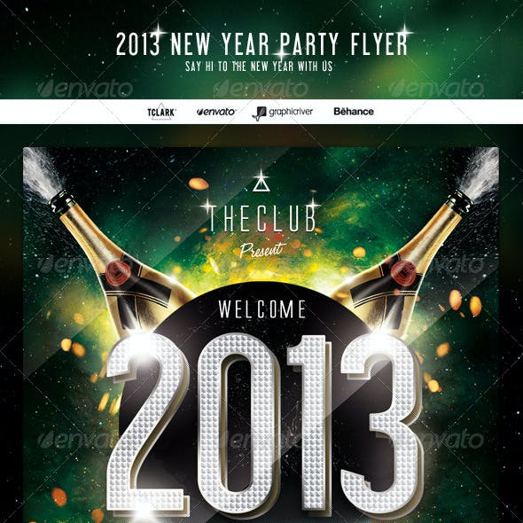2013 New Year Party Flyer