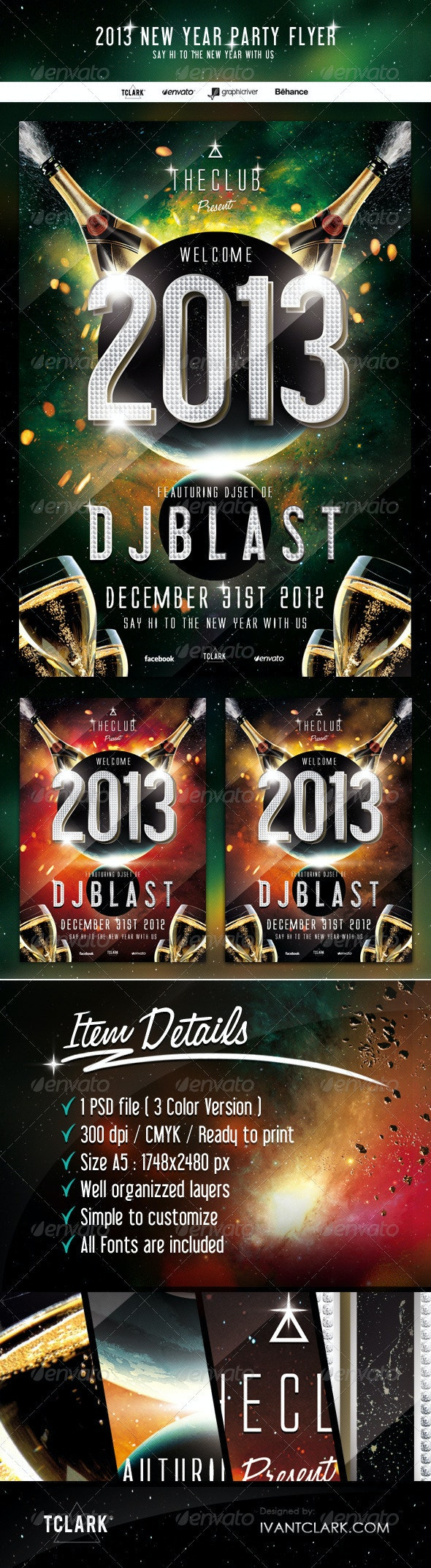 2013 New Year Party Flyer - Clubs & Parties Events