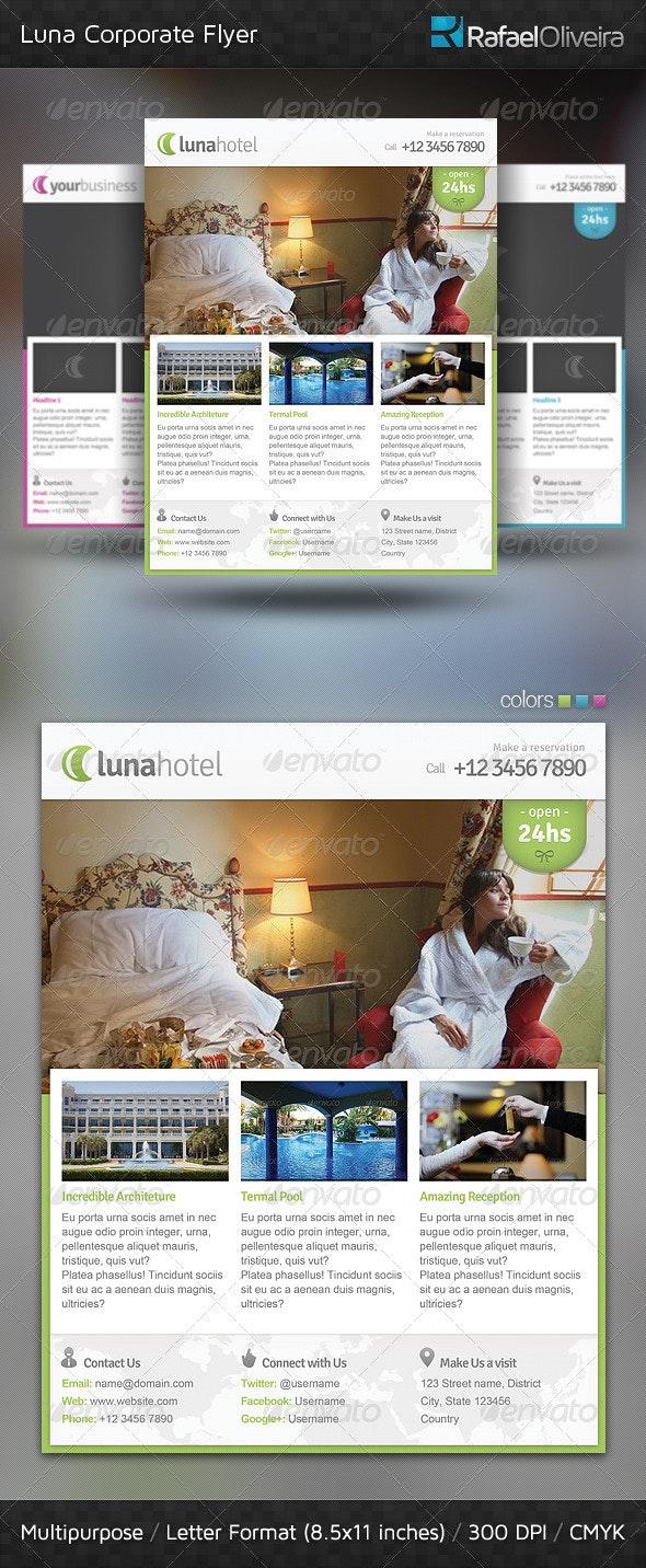 Luna Corporate Flyer - Corporate Flyers