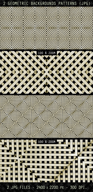 2 Geometric Backgrounds Patterns - Patterns Backgrounds