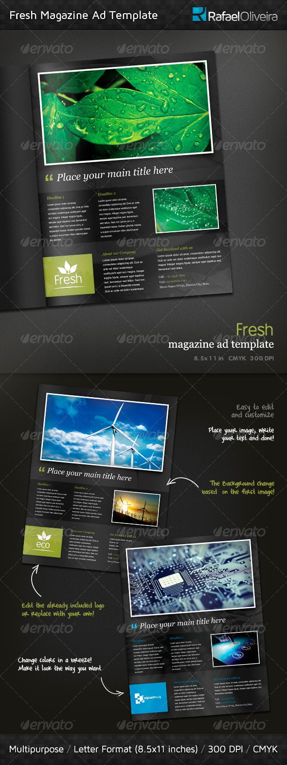Fresh Magazine Ad Template - Magazines Print Templates