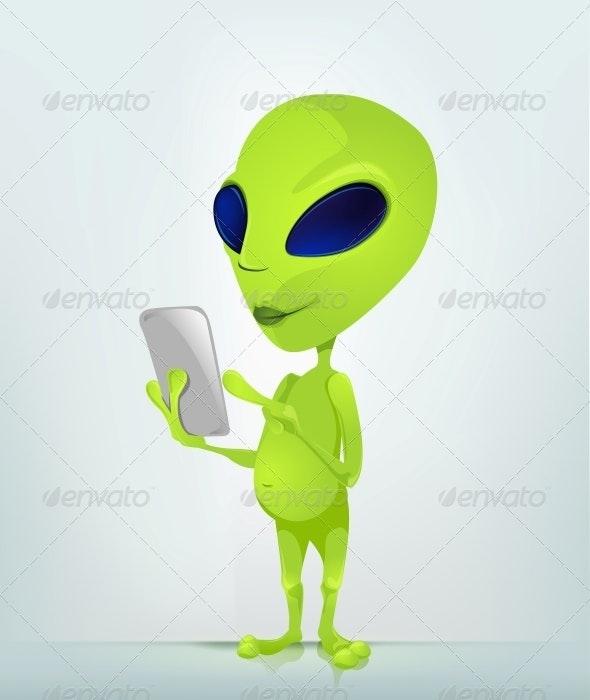 Cartoon Character Alien - Monsters Characters