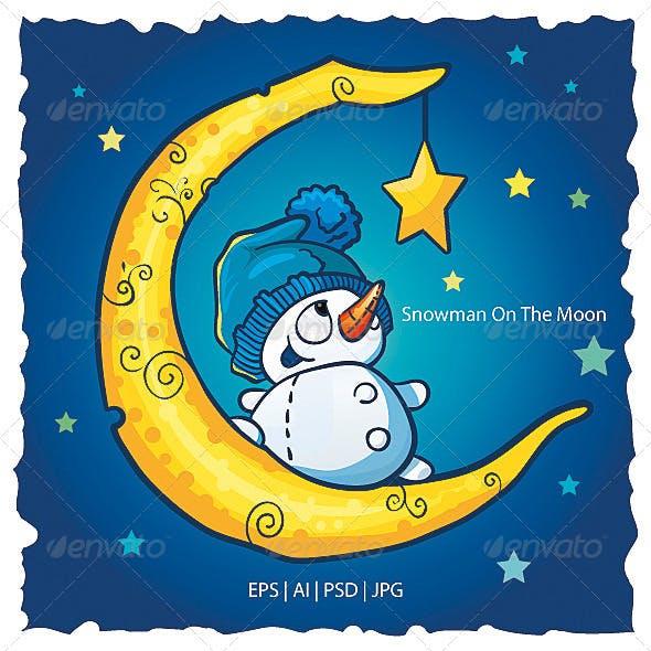 Snowman On The Moon