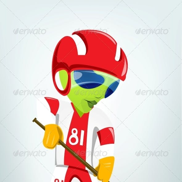 Cartoon Character Alien