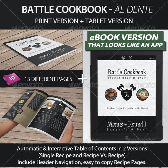 Battle Cookbook - Food Recipe with tablet version