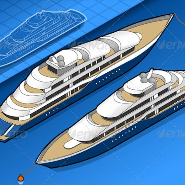 Isometric Yacht in Two Positions