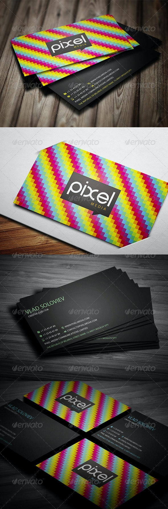 Rainbow Business Card - Creative Business Cards