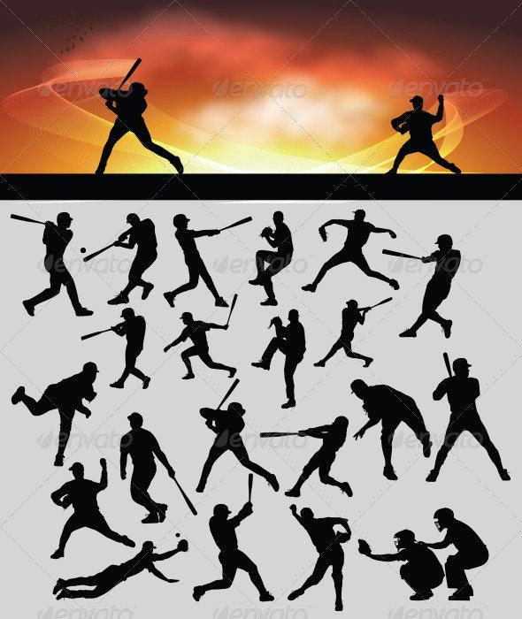 Baseball Silhouette - Sports/Activity Conceptual