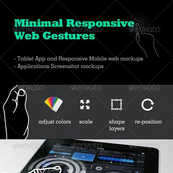 Minimal Responsive Web Gestures