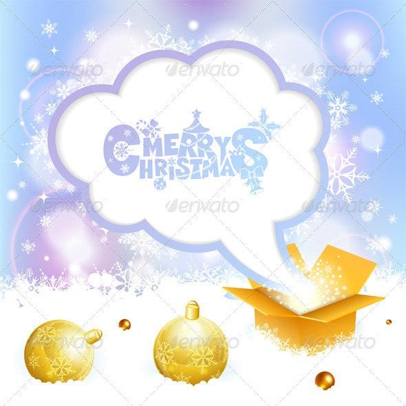 Christmas Speech Bubble - Christmas Seasons/Holidays