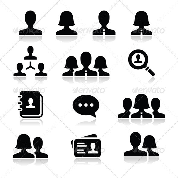 People User Vector Icons Set - People Characters