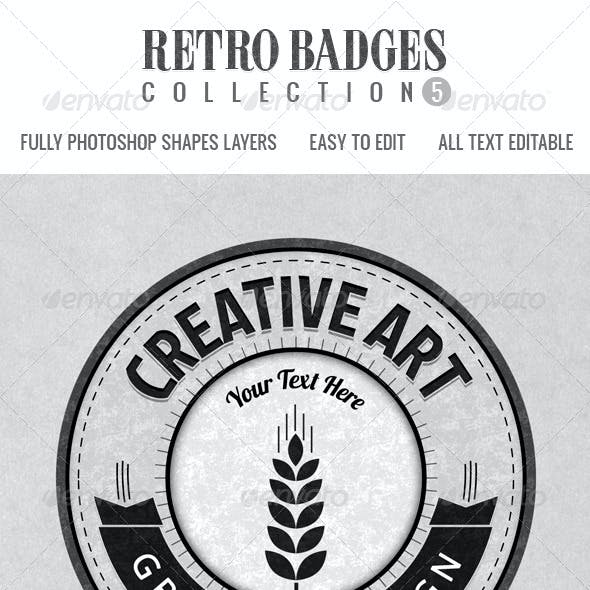 Retro Badges col.5