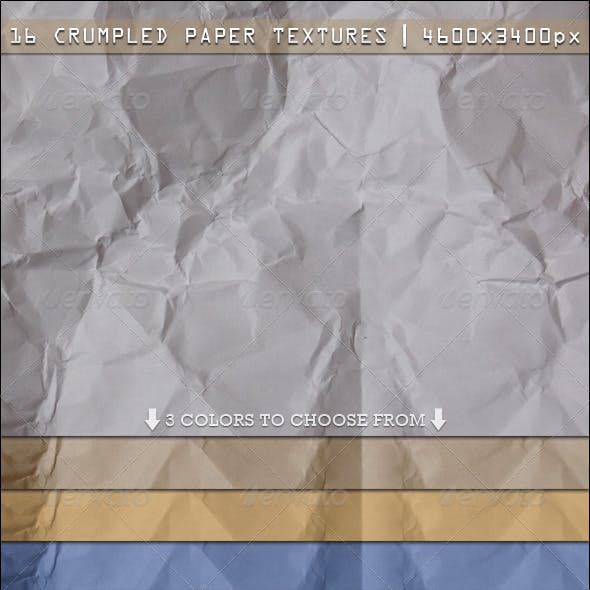 16 Crumpled Paper Textures