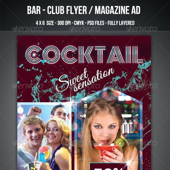 Cocktail Club / Bar Flyer