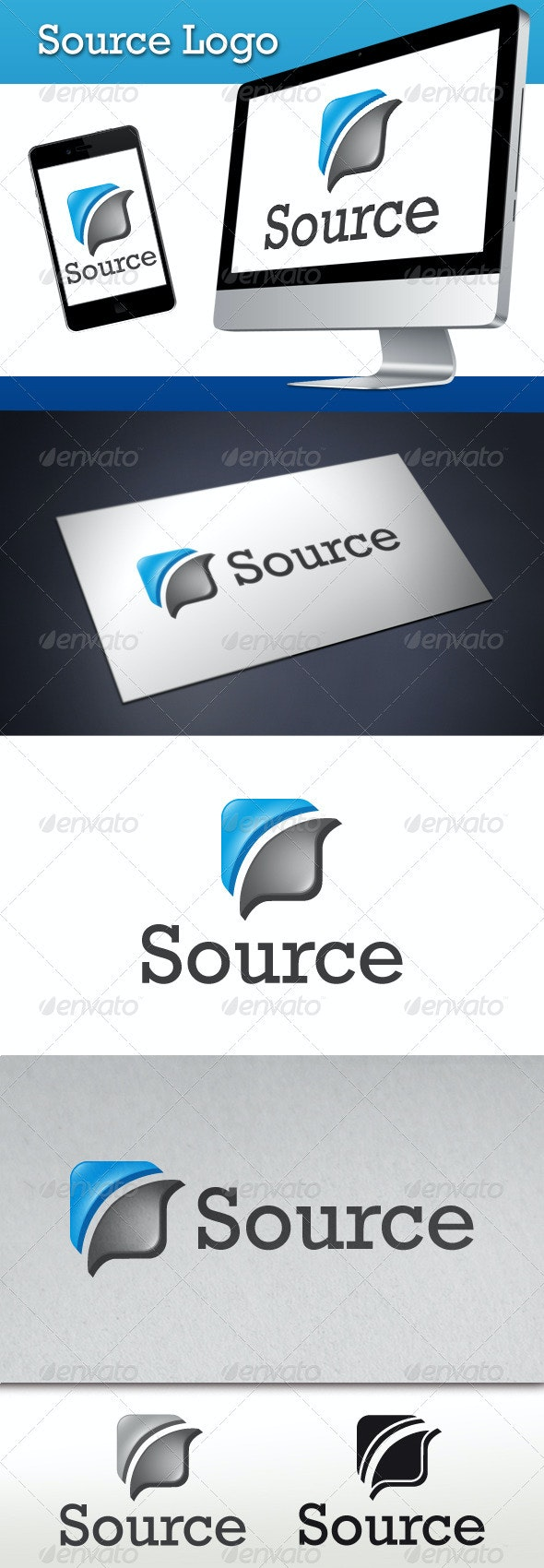 Source Logo Template - 3d Abstract