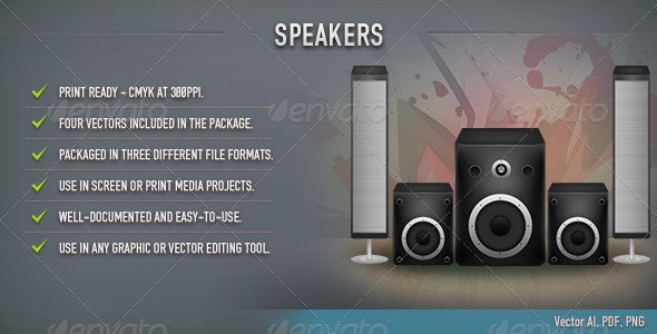 Speakers Vector - Man-made Objects Objects