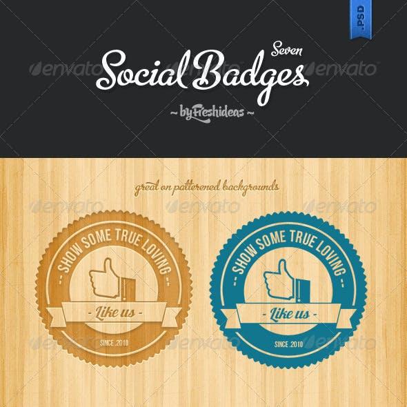 7 Retro Social Badges