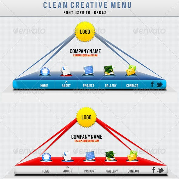 Clean Creative Menu !!!