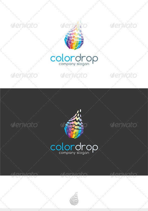 Color Drop Logo - Symbols Logo Templates