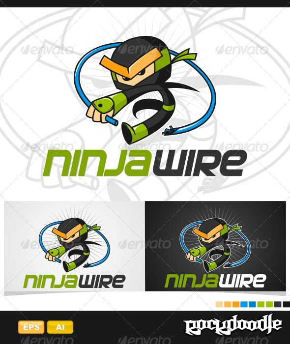 Ninja Wire Logo - Humans Logo Templates