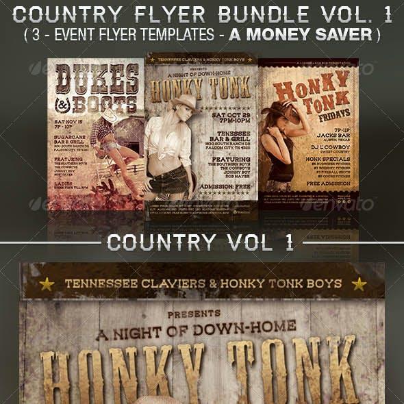 Honky Tonk Flyer Templates Bundle Vol. 1
