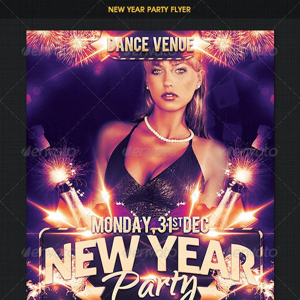 New Year Dance Party Flyer