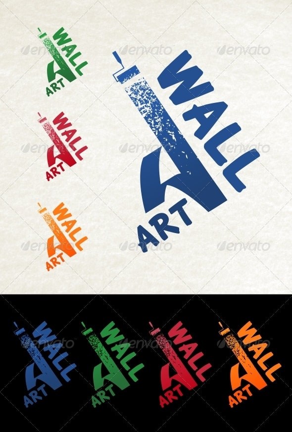 Wall Art Logo - Letters Logo Templates
