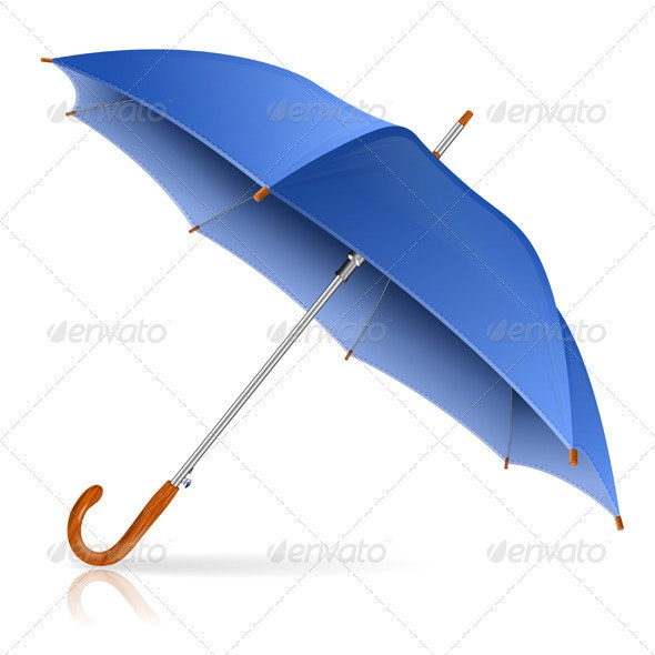 Blue Umbrella - Man-made Objects Objects