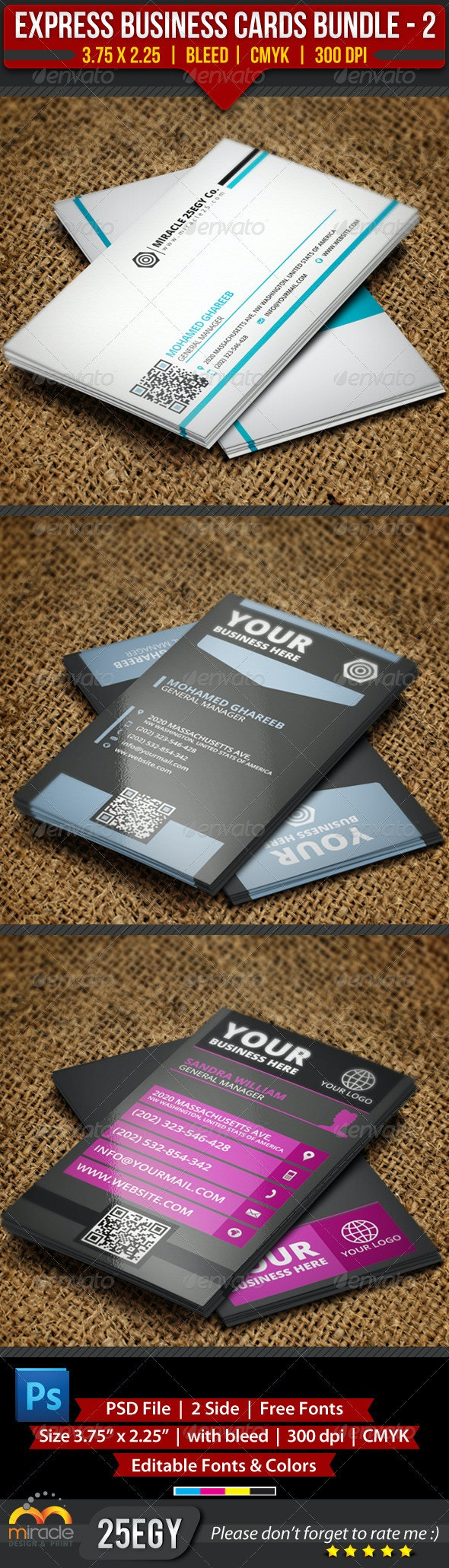 Express Business Cards Bundle #2 - Creative Business Cards