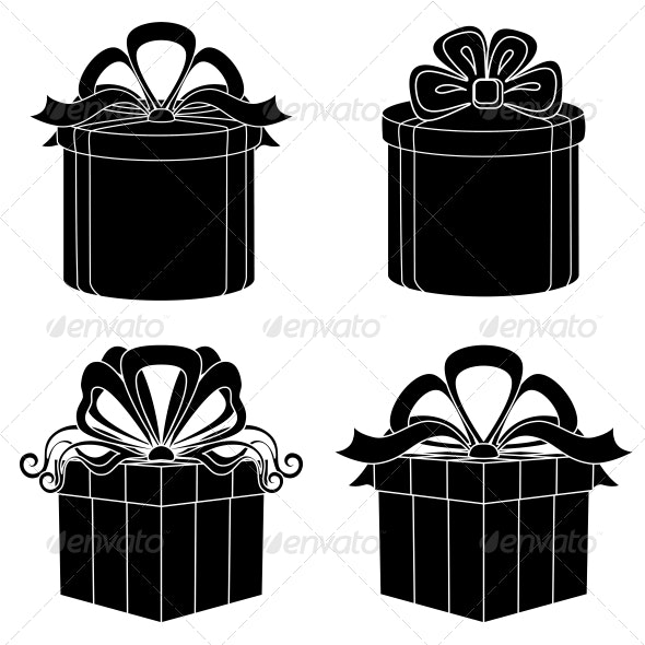 Gift Box Silhouettes - Retail Commercial / Shopping