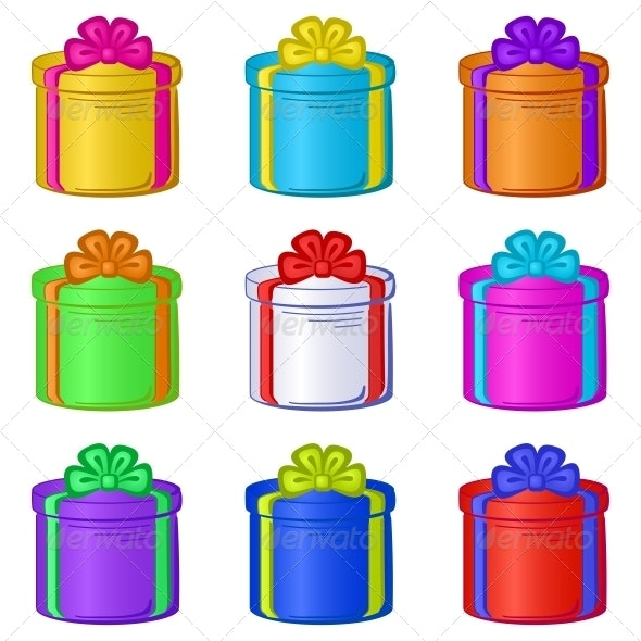 Round Gift Boxes - Retail Commercial / Shopping