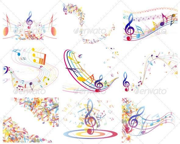 Multicolor  Musical Notes - Miscellaneous Conceptual