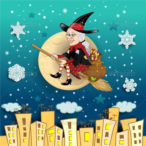 Befana Moon in the City  - Christmas Seasons/Holidays