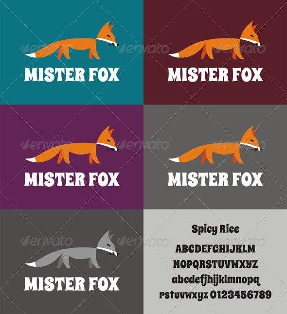 Mister Fox Logo - Animals Logo Templates