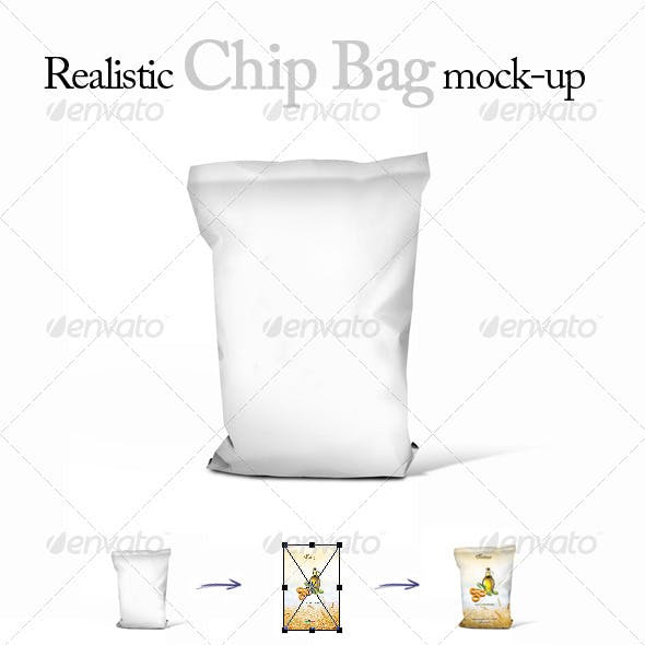 Realistic Chips Bag Mock-Up