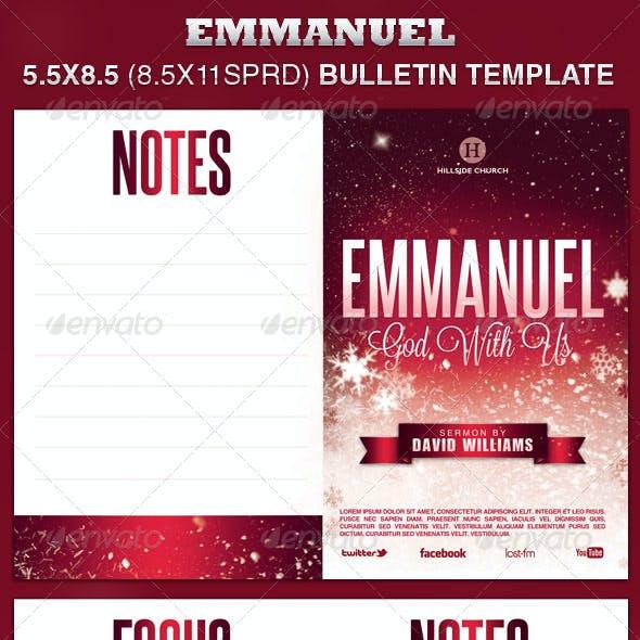 Emmanuel Church Bulletin Template