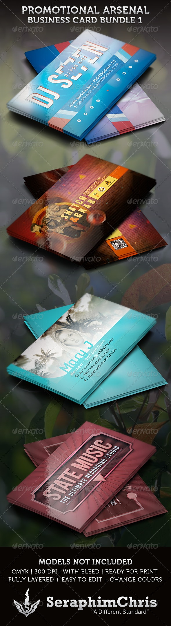 Promotional Arsenal Business Card Bundle 1 - Industry Specific Business Cards