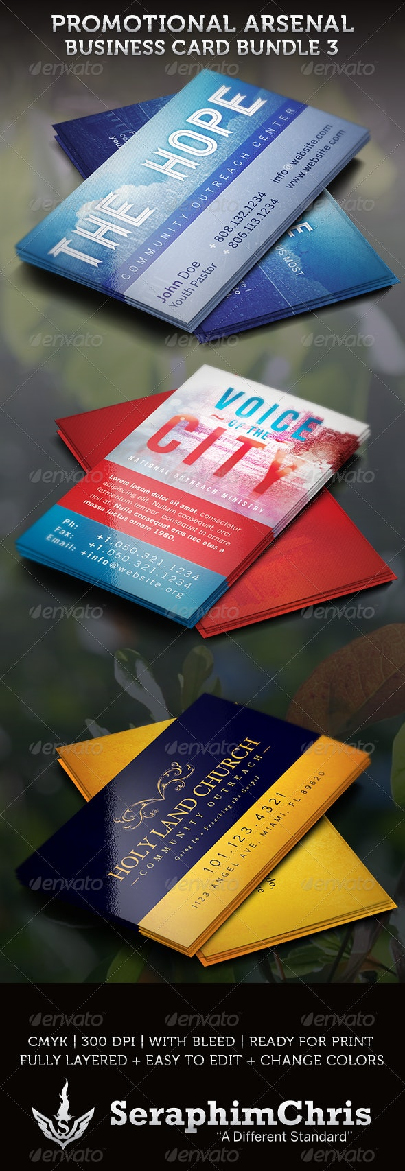 Promotional Arsenal Business Card Bundle 3 - Creative Business Cards
