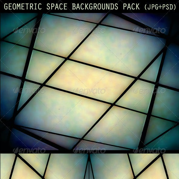 Geometric Space Backgrounds Pack