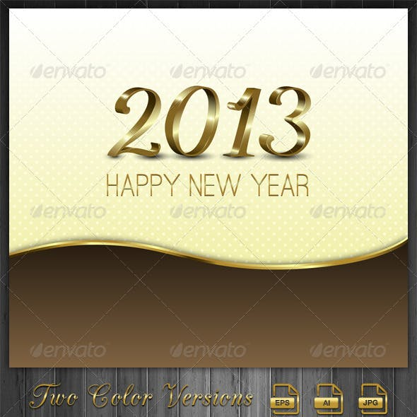 Gold New Year Background-2013