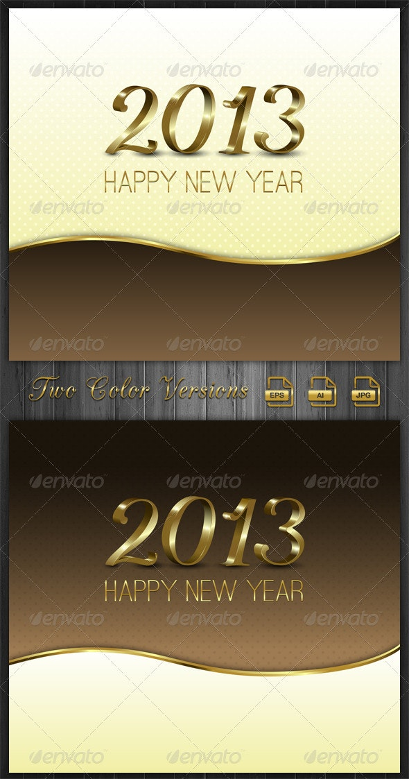 Gold New Year Background-2013 - New Year Seasons/Holidays