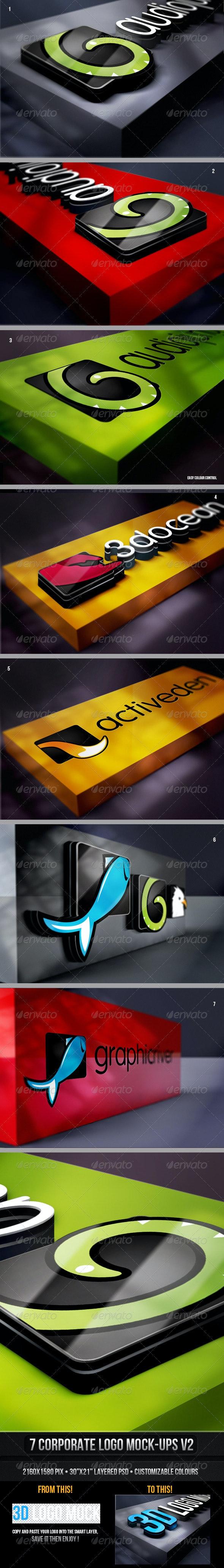 Corporate Logo Mock-up v2 - Logo Product Mock-Ups