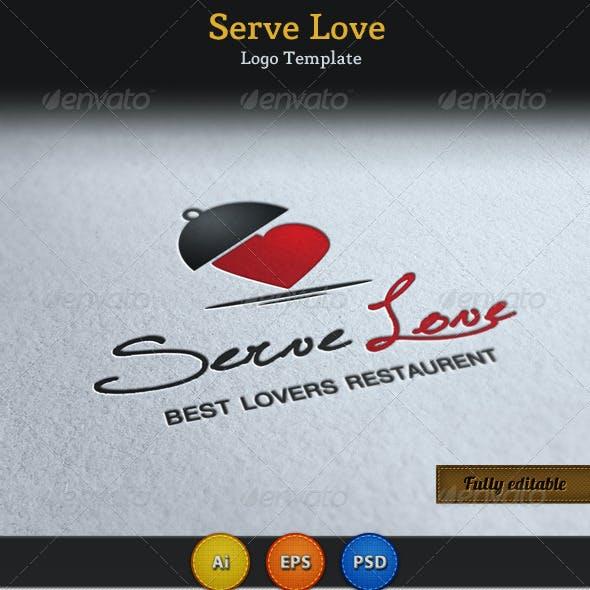 Serve Love Restaurant Cafe Food Logo